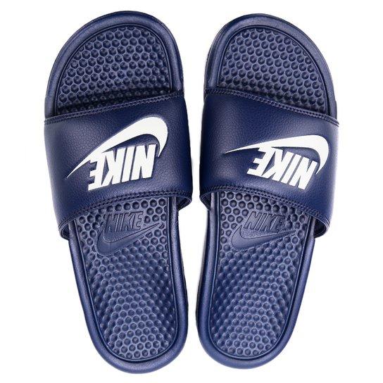 Menor preço em Sandália Nike Benassi JDI Masculina - Marinho e Branco