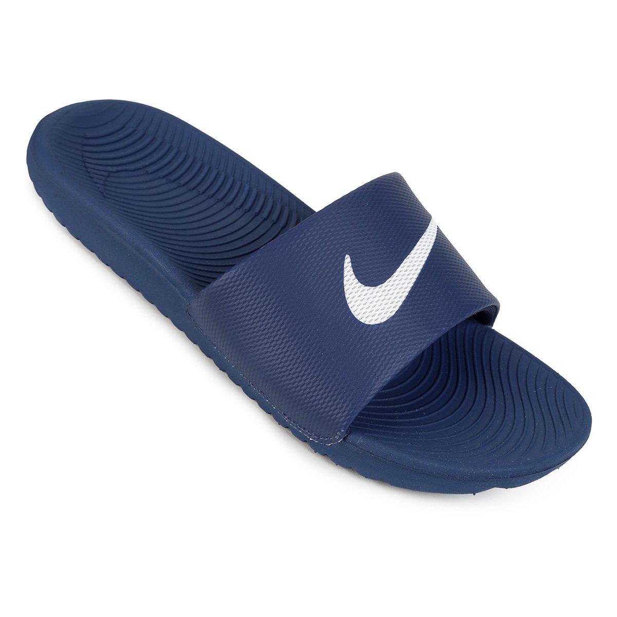 Nike Kawa Azul Sandália Slide Kawa Sandália Branco Masculina Nike Slide e Masculina PPdYrw