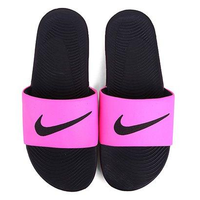sandália nike wmns kawa slide pink compre agora netshoes5747 Artigos Para Corrida #4