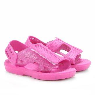 Sandália Papete Infantil Luelua Glitter Feminina