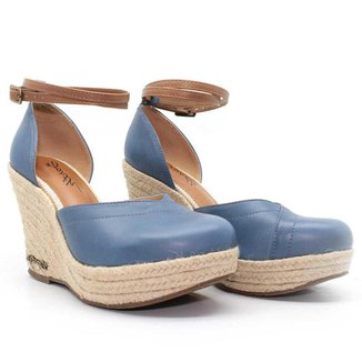 Sandália Plataforma Barth Shoes Jeri Couro Estilosa Moderna