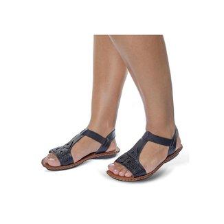 Sandalia Rasteira Roma Shoes em Couro Confort Rasteirinha Anti Derrapante