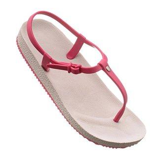 Sandália Rasteira Tiras De Griffe Chinelo Off Pink