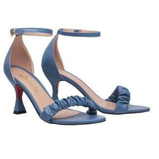 Sandalia Salto Alto Feminina Bico Fino Scarpin SAL-NS-BL-1