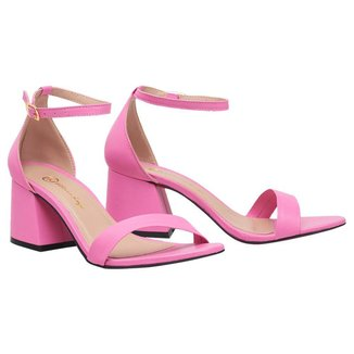 Sandalia Salto Baixo Grosso Feminina Bico Fino Scarpin SAL-NS-BG-1