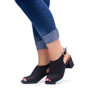 Sandália Salto Bloco Confortável Sw Shoes Casual Luxo