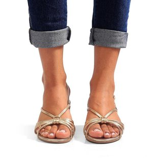 Sandália Salto Bloco Sw Shoes Tiras Festa