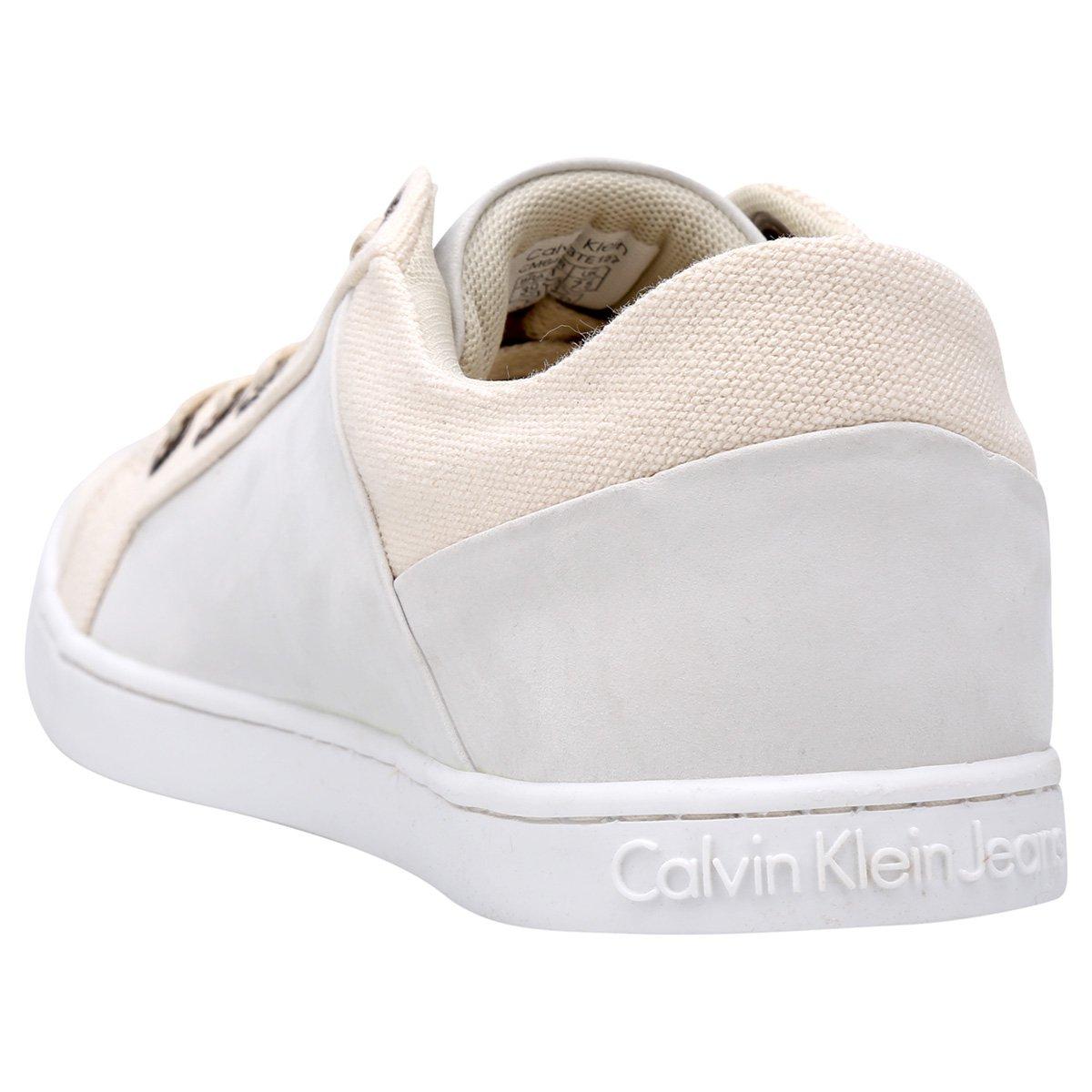 Sapatênis Klein Branco Masculino Basic Areia Calvin Basic Sapatênis Branco Masculino Klein Calvin e Aw1CqxO