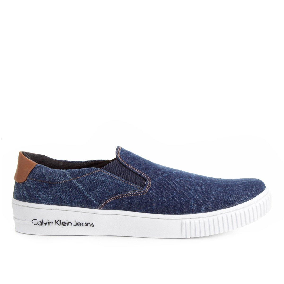2cab48c3a348c Sapatênis Calvin Klein Iate Jeans Masculino - Compre Agora   Netshoes