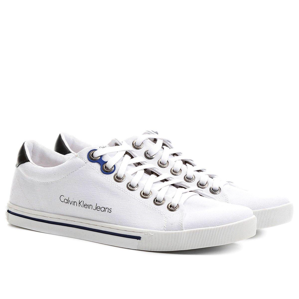 5f3519f4a8e07 Sapatênis Calvin Klein Lona Friso - Compre Agora