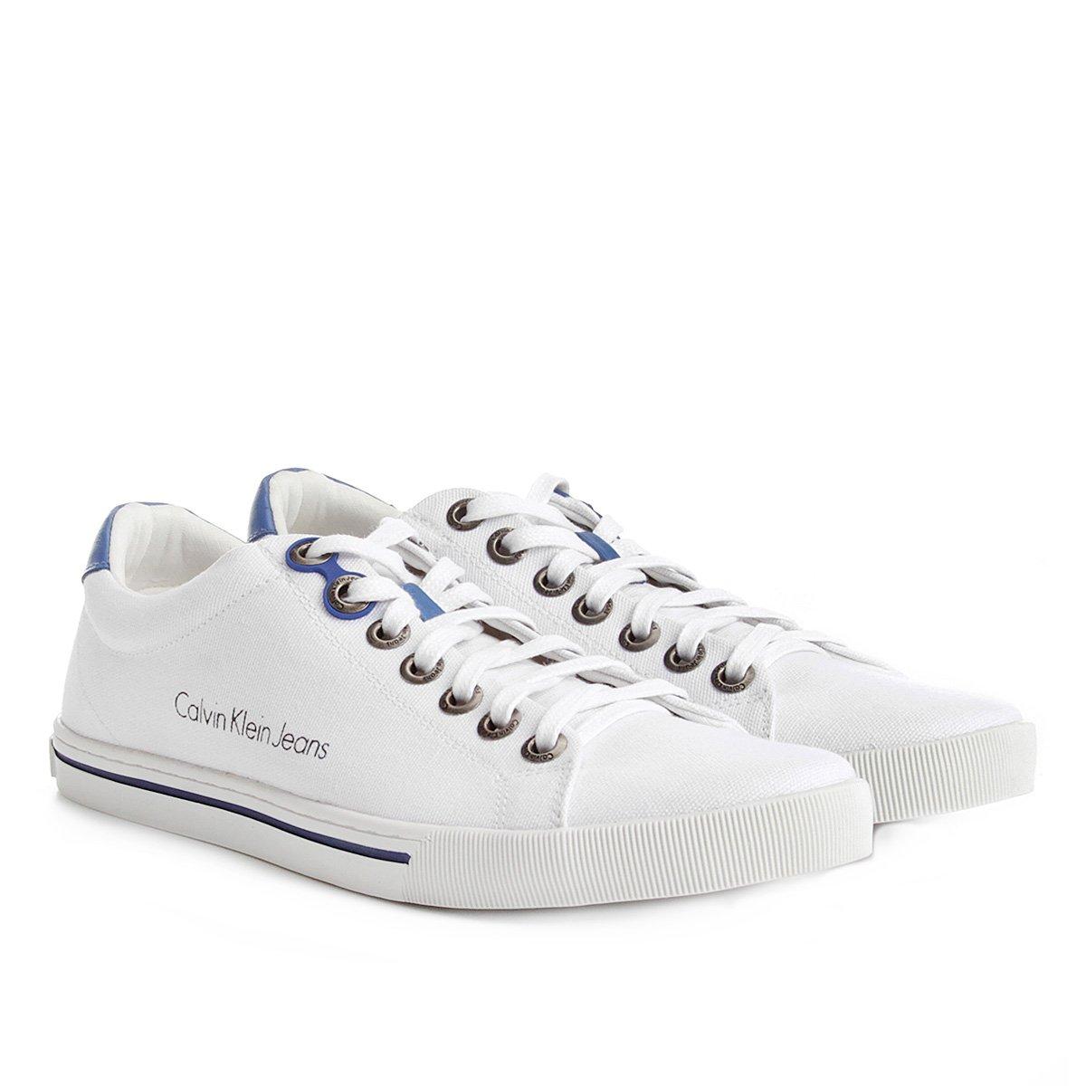 a77d48660aa52 Sapatênis Calvin Klein Lona Masculino - Compre Agora