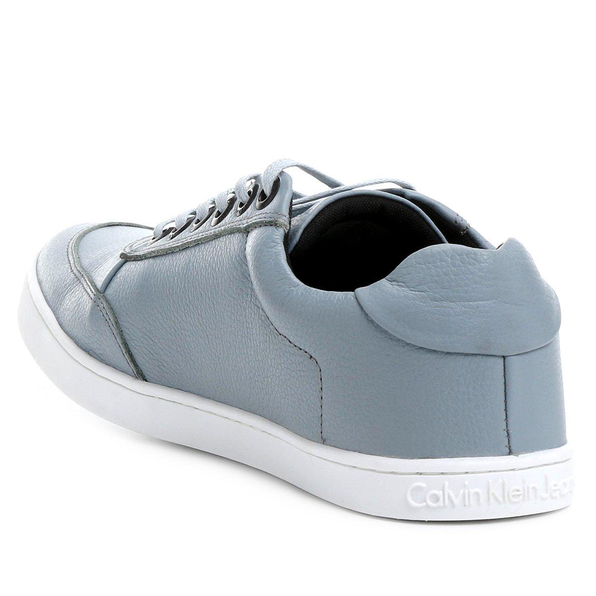 Sapatênis Couro Calvin Klein Boat Lth Masculino - Azul - Compre ... b02031d349