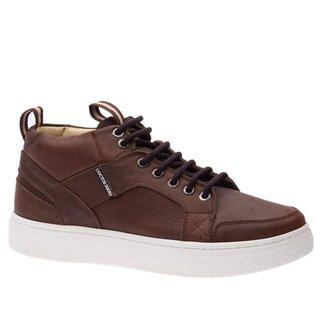 Sapatênis Doctor Shoes Linha UP Couro 9829 Café