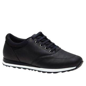 Sapatênis Masculino em Couro Graxo Preto 4060 Doctor Shoes