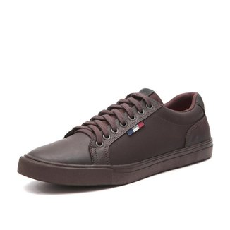 Sapatenis Tenis Casual Masculino Cafe Moderno Confortavel Fork