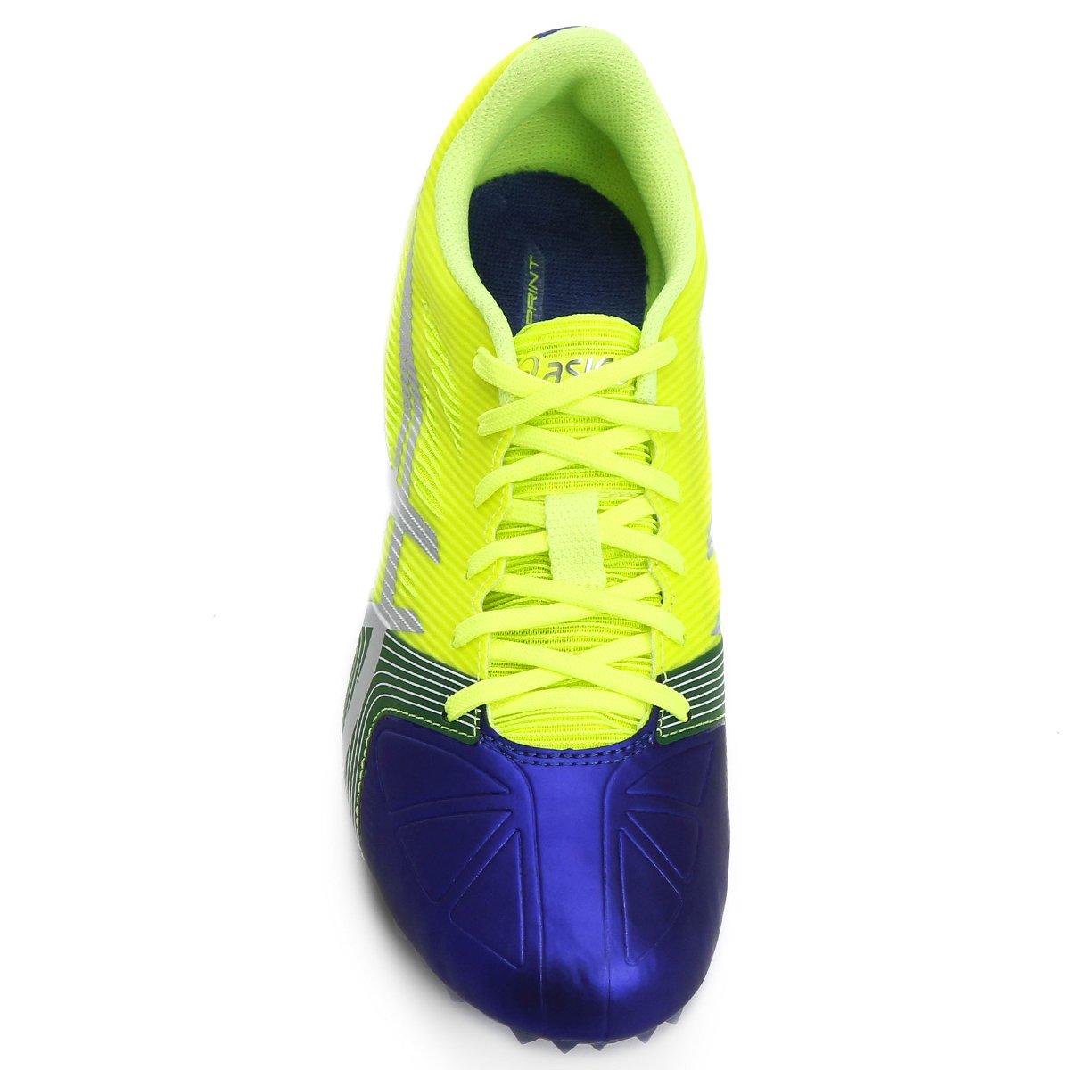 Masculino Asics Hypersprint Limão Verde e Sapatilha Azul 6 Sapatilha Asics XCqwa