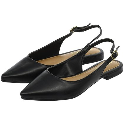 Sapatilha Feminina Aberta Donatella Shoes Slingback Rasteira Mule Clássica Lisa