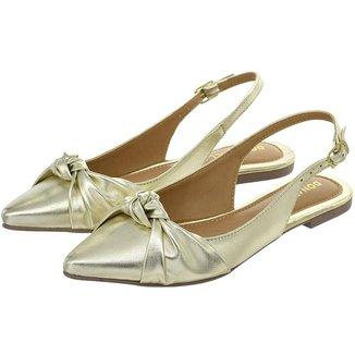 Sapatilha Feminina Aberta Donatella Shoes Slingback Rasteira Mule Nó