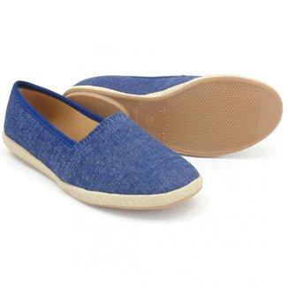 Sapatilha Feminina Confort Jeans Azul