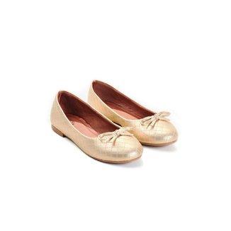 Sapatilha Feminino Napa Mizzi Shoes Matelassê Light com Bico Redondo Com Laço Confortável