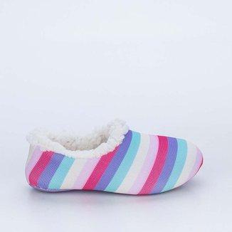 Sapatilha Meia Infantil Socks Fun Colorida Pelo C