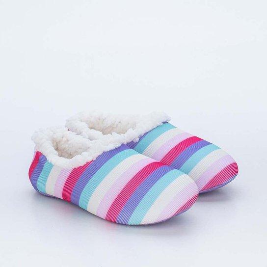 Sapatilha Meia Infantil Socks Fun Colorida Pelo C - Colorido