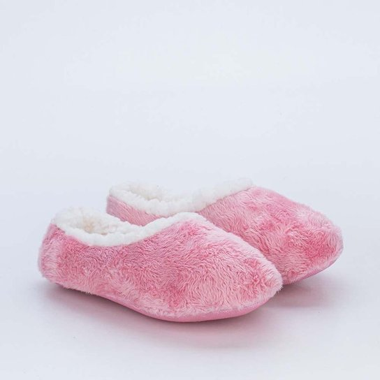 Sapatilha Meia Infantil Socks Fun Rosa com Pelo C - Rosa