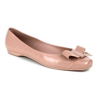 Sapatilha Tag Shoes PVC Laço Bico Quadrado Feminina