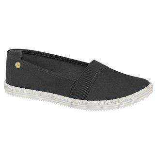 Sapato Alpargatas Feminino Casual Lona Com Elástico Moleca 5739.103