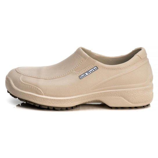 Sapato Antiderrapante Soft Works Com Biqueira Em Composite - BB66 - Creme