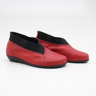 Sapato Boneca Feminino Elástico Bico Arredondado Leve Casual
