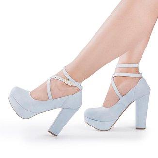 Sapato Boneca Modarpe Meia Pata Salto Grosso Feminino M10