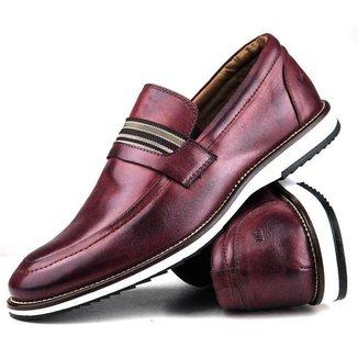 Sapato Casual Brogue Premium Comfort Social Fecho Cadarço Couro