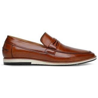 Sapato Casual Caramelo Couro 24536