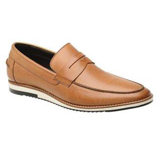 Sapato Casual Couro Caramelo 24513
