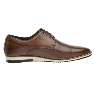 Sapato Casual Couro Derby Caramelo 24515