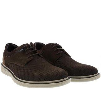 Sapato Casual Democrata Metropolitan Bay Couro Marrom - 43
