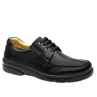 Sapato Casual Doctor Shoes Diabético Couro 5311 Preto