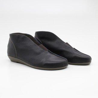 Sapato Casual Feminino Liso Elástico Fenda Leve Conforto