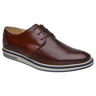 Sapato Casual Masculino Malbork Couro Furado