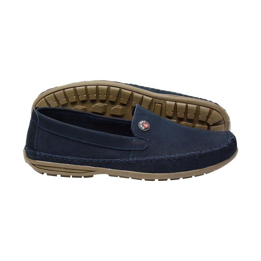 Sapato Sapato Way Casual Mocassim Marinho G em Casual Couro q515U