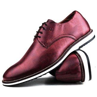 Sapato Casual Premium Comfort Social Brogue Couro