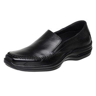 Sapato  Casual Roma Shoes Social  em Couro  Antiderrapante Masculino