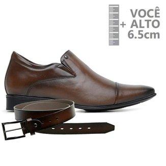 Sapato Com Salto Interno Jota Pe Marrom Air + Cinto 79510