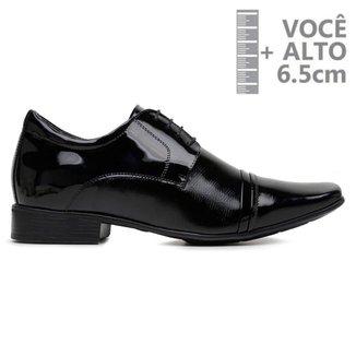 Sapato Com Salto Interno Jota Pe Preto Verniz Air 79600