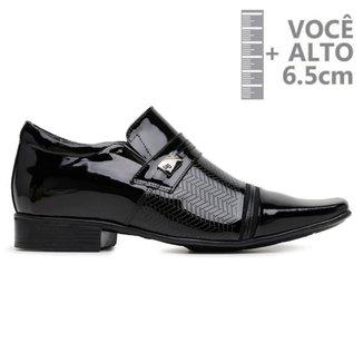 Sapato Com Salto Interno Jota Pe Preto Verniz Air 79704