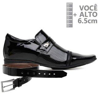 Sapato Com Salto Interno Jota Pe Preto Vz Air + Cinto 79704