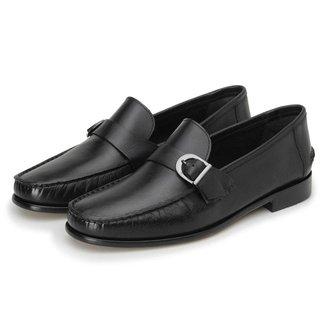 Sapato Couro Roma Shoes Mocassim Fivela Argentino