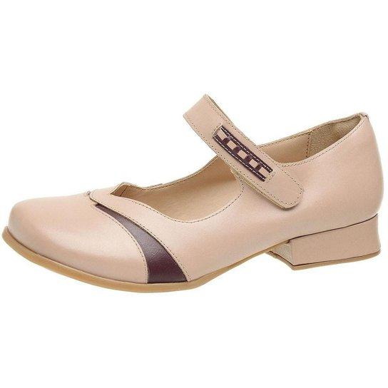 Sapato Estilo Boneca Gasparini 3214 Pele - Gelo