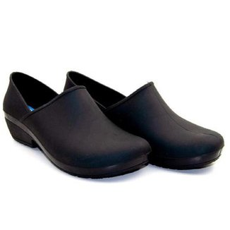 Sapato Feminino Fechado Emborrachado Boa Onda Confortável